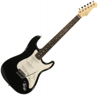 Solid body electric guitar Eastone STR70 (PUR) - Black