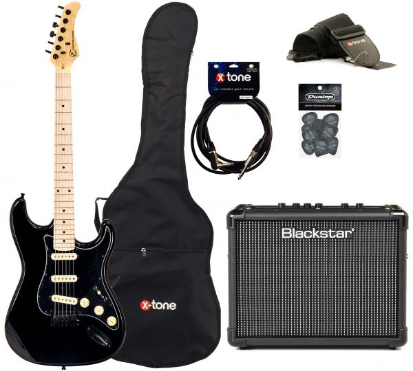 Electric guitar set Eastone STR70 GIL + Blackstar ID Core 10W +Accessoires - Black