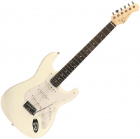 Solid body electric guitar Eastone STR70 (PUR) - white
