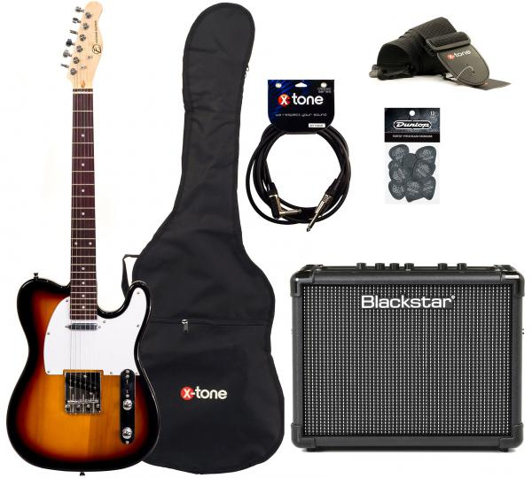 Electric guitar set Eastone TL70 +Blackstar Id Core 10  +Accessories - 3-color sunburst