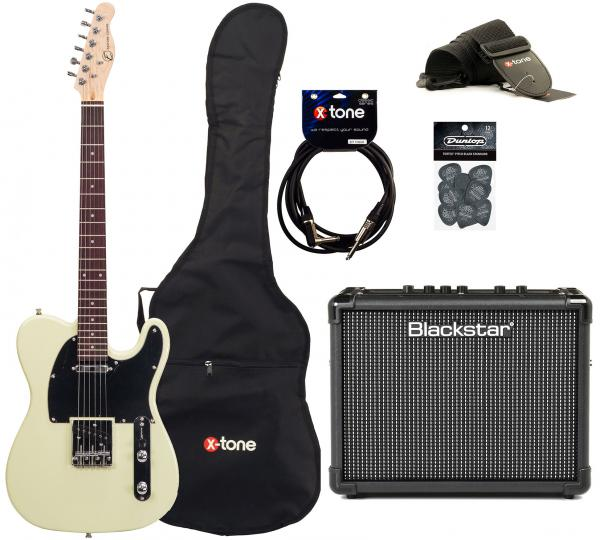Electric guitar set Eastone TL70 +Blackstar Id Core 10  +Accessories - Ivory