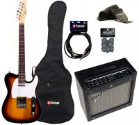 Electric guitar set Eastone TL70 +Fender Mustang I V2 +Accessories - 3-color sunburst