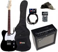 Electric guitar set Eastone TL70 +Fender Mustang I V2 +Accessories - Black