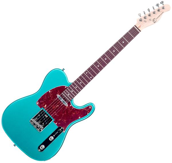 Solid body electric guitar Eastone TL70 (PUR) - Metallic light blue