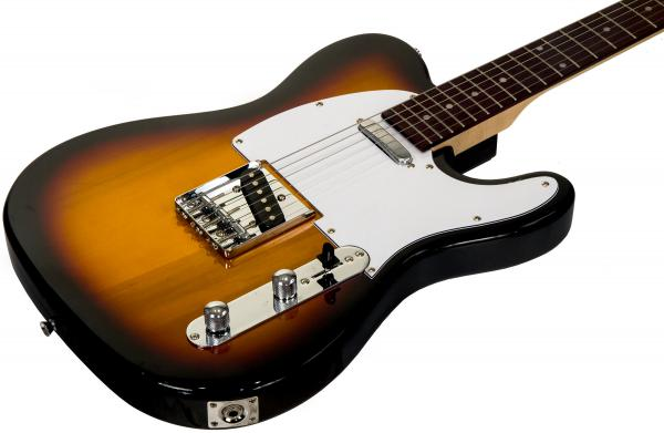 Solid body electric guitar Eastone TL70 (RW) - 3 tone sunburst