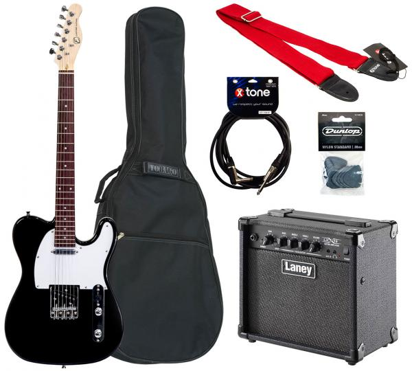 Electric guitar set Eastone TL70 +Laney LX15 +Accessories - Black