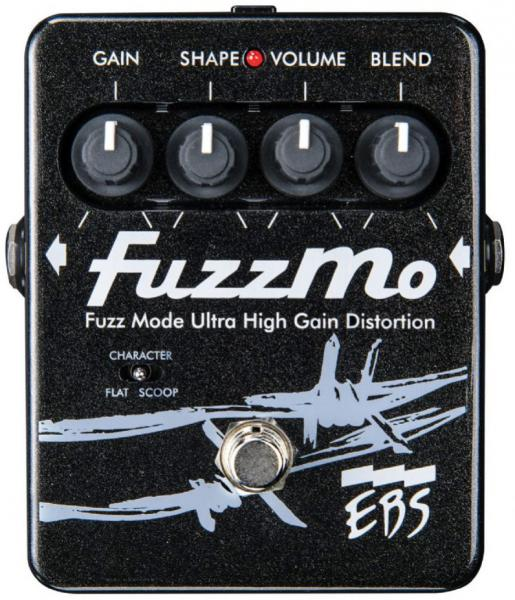 Overdrive, distortion, fuzz effect pedal for bass Ebs                            FuzzMo