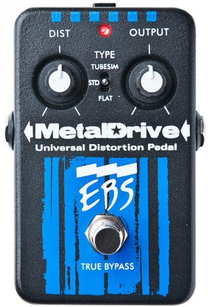 Overdrive, distortion, fuzz effect pedal for bass Ebs                            MetalDrive