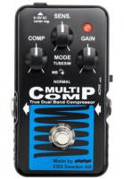 Compressor, sustain & noise gate effect pedal for bass Ebs                            MultiComp Blue Label