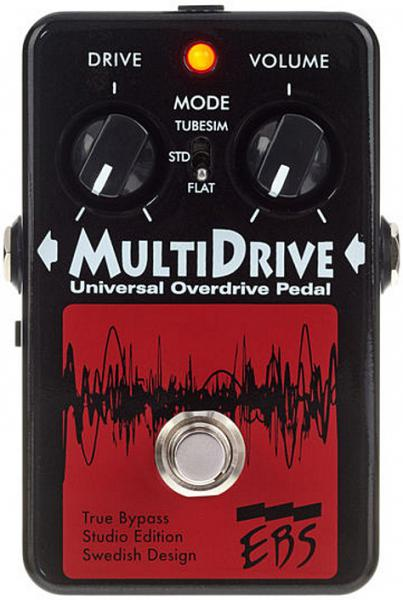 Overdrive, distortion, fuzz effect pedal for bass Ebs                            MultiDrive Studio Edition