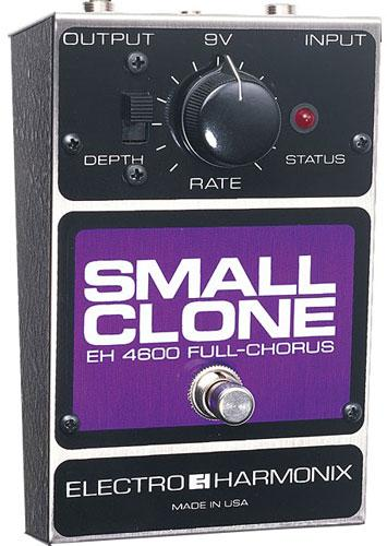 Modulation, chorus, flanger, phaser & tremolo effect pedal Electro harmonix Small Clone
