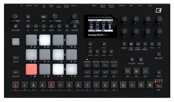 Drum machine Elektron Analog Rytm MKII BK