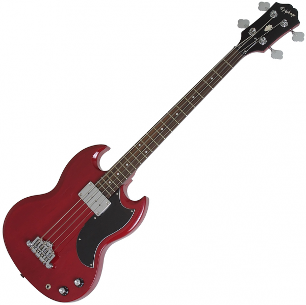 Solid body electric bass Epiphone EB-0 Bass - Cherry