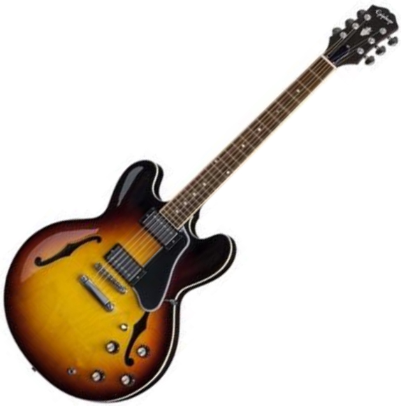 Semi-hollow electric guitar Epiphone Inspired By Gibson ES-335 - Vintage sunburst