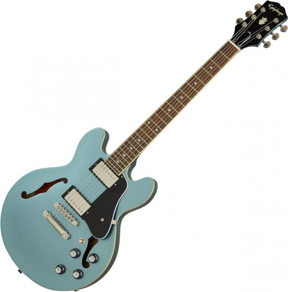 Semi-hollow electric guitar Epiphone Inspired By Gibson ES-339 - Pelham blue