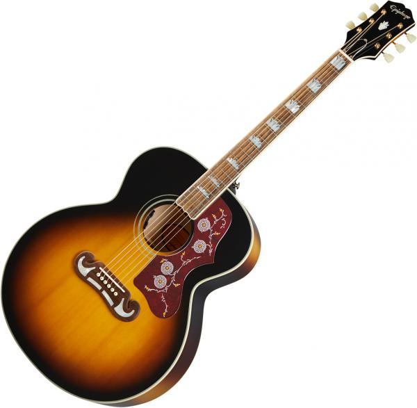 Acoustic guitar & electro Epiphone Inspired by Gibson J-200 - Aged vintage sunburst
