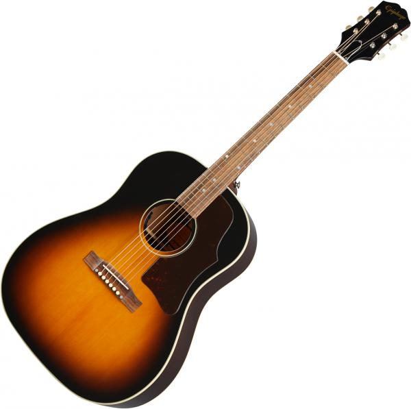Acoustic guitar & electro Epiphone Inspired by Gibson J-45 - Aged vintage sunburst