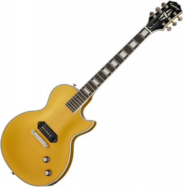Solid body electric guitar Epiphone Jared James Nichols Gold Glory Les Paul Custom Ltd - Double gold vintage aged