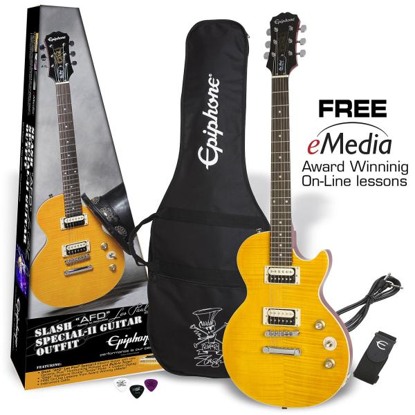 Electric guitar set Epiphone Slash AFD Les Paul Special-II Guitar Outfit - Appetite amber