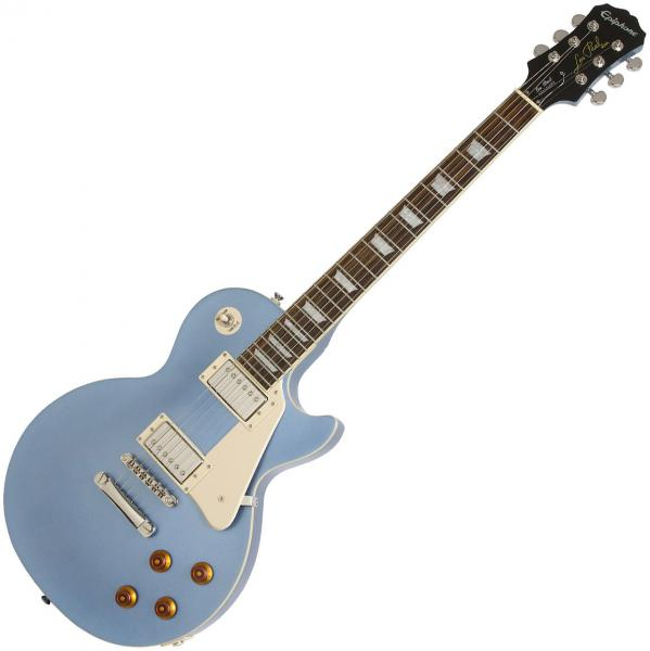 Solid body electric guitar Epiphone Les Paul Standard 2018 - pelham blue