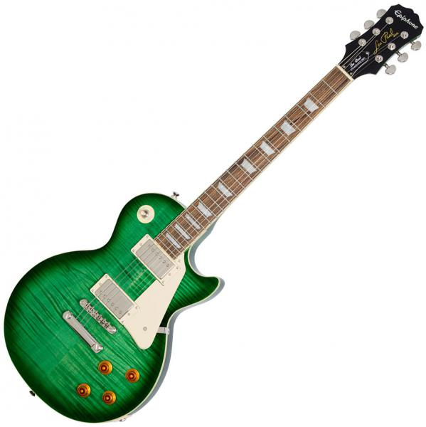 Solid body electric guitar Epiphone Les Paul Standard Plus Top Pro 2018 - Green Burst