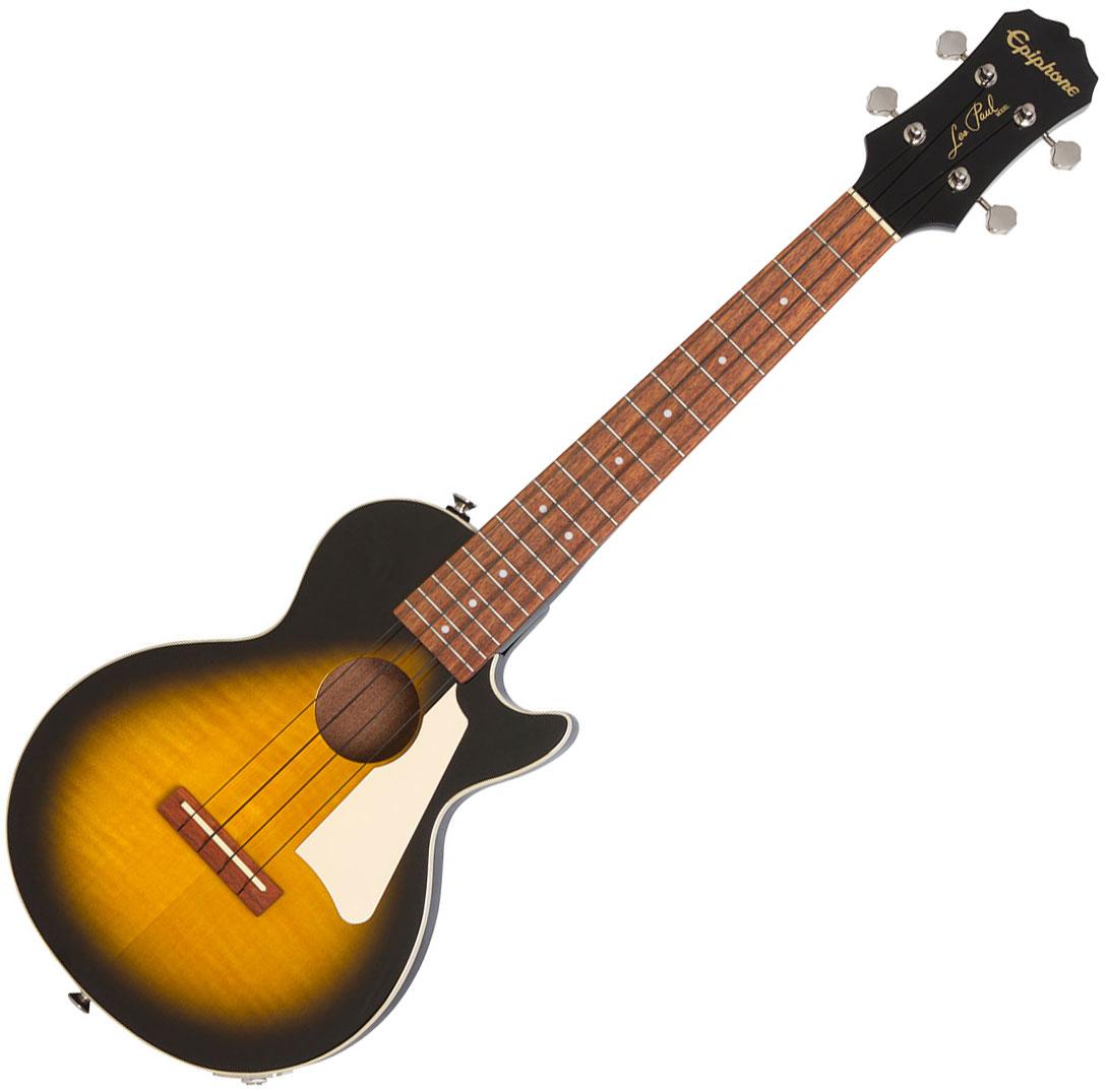 epiphone les paul tenor acoustic electric ukulele 2019 vintage sunburst ukulele sunburst. Black Bedroom Furniture Sets. Home Design Ideas