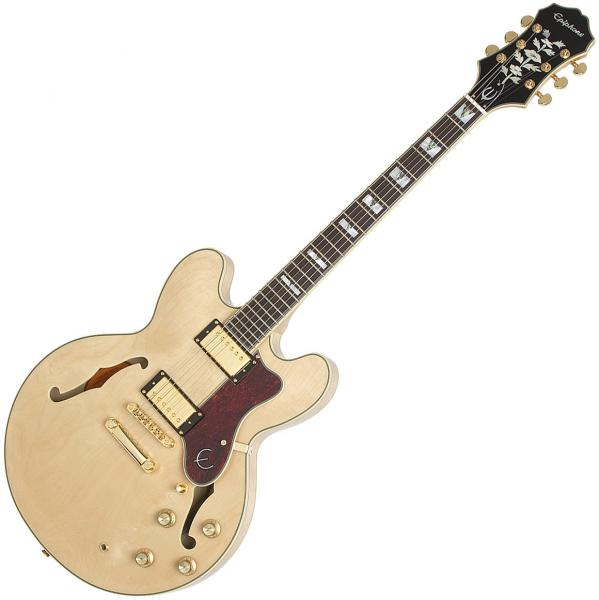 Semi-hollow electric guitar Epiphone Sheraton-II PRO - natural