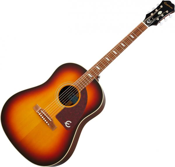 Acoustic guitar & electro Epiphone Masterbilt Texan - Faded cherry