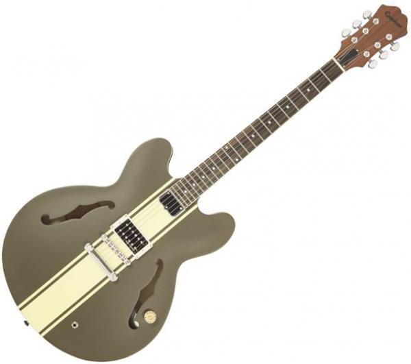 epiphone tom delonge es 333 brown semi hollow electric guitar brown star 39 s music. Black Bedroom Furniture Sets. Home Design Ideas
