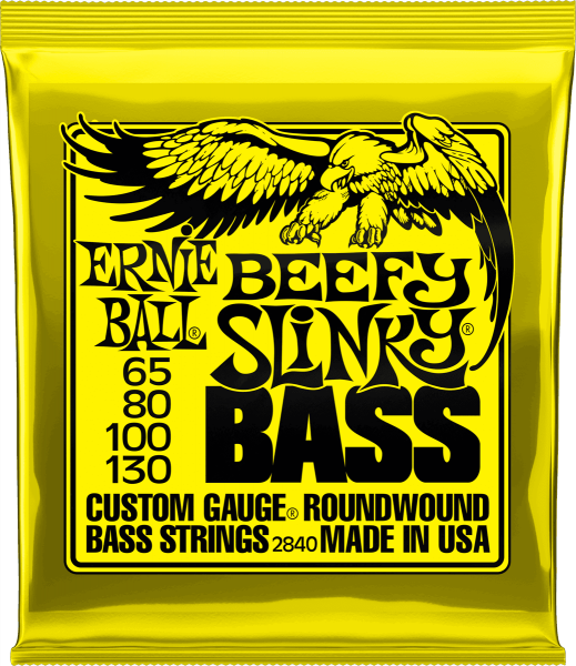 Electric bass strings Ernie ball Bass (4) 2840 Beefy Slinky 65-130 - Set of strings