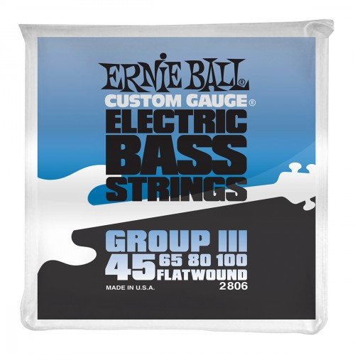 Electric bass strings Ernie ball Bass (4) 2806 Flatwound Group III 45-100 - Set of strings