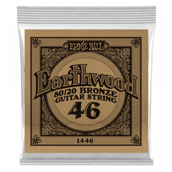 Acoustic guitar strings Ernie ball Folk (1) Earthwood 80/20 Bronze 046 - String by unit