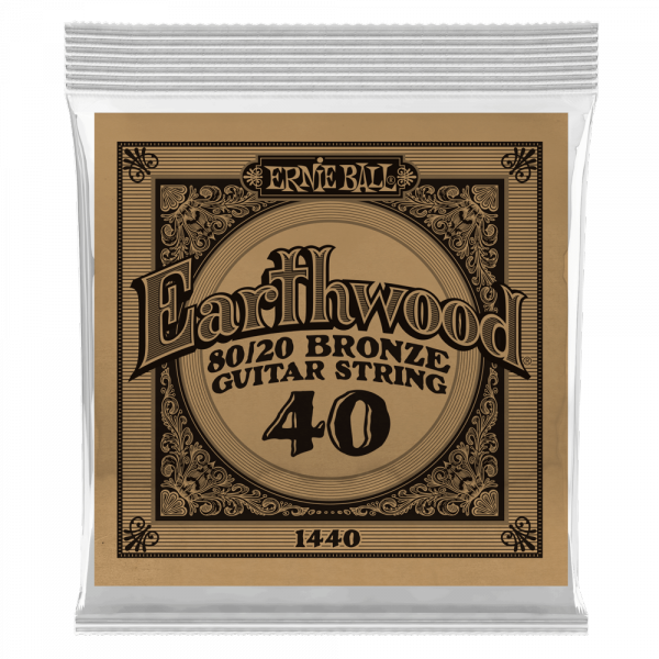 Acoustic guitar strings Ernie ball Folk (1) Earthwood 80/20 Bronze 040 - String by unit
