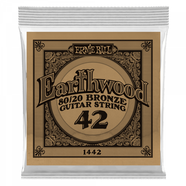 Acoustic guitar strings Ernie ball Folk (1) Earthwood 80/20 Bronze 042 - String by unit