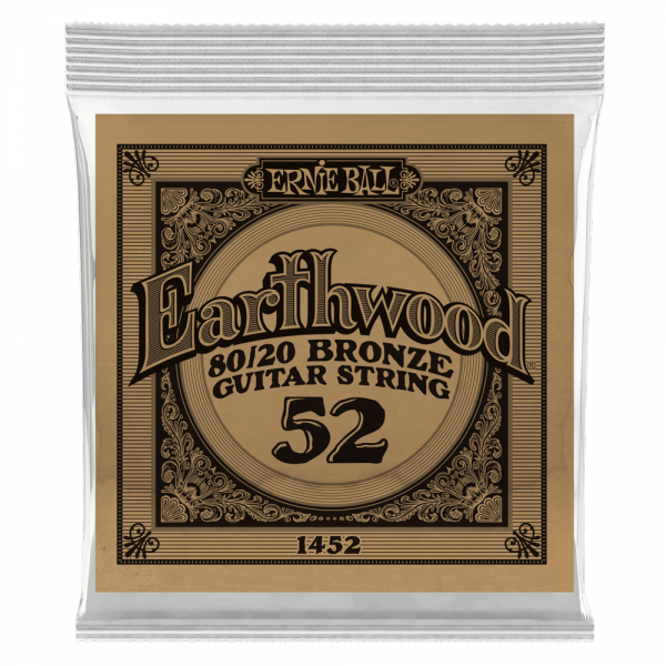 Acoustic guitar strings Ernie ball Folk (1) Earthwood 80/20 Bronze 052 - String by unit