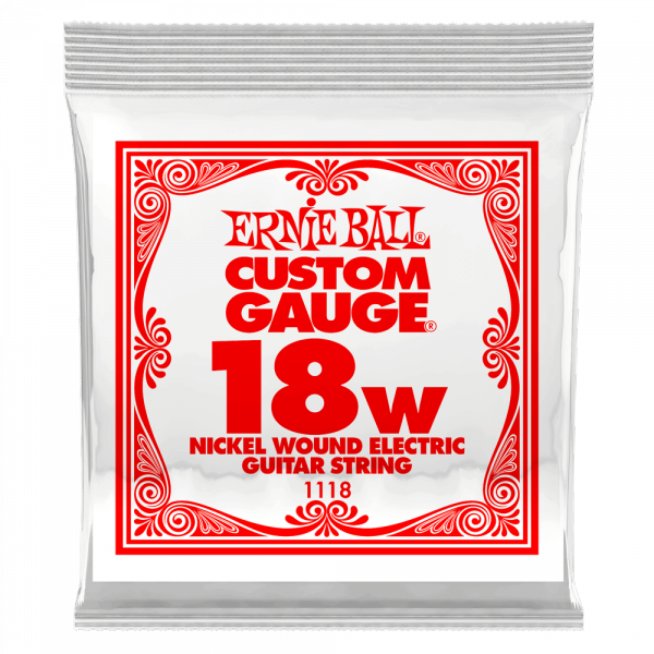 Electric guitar strings Ernie ball Electric (1) 1118 Slinky Nickel Wound 18 - String by unit