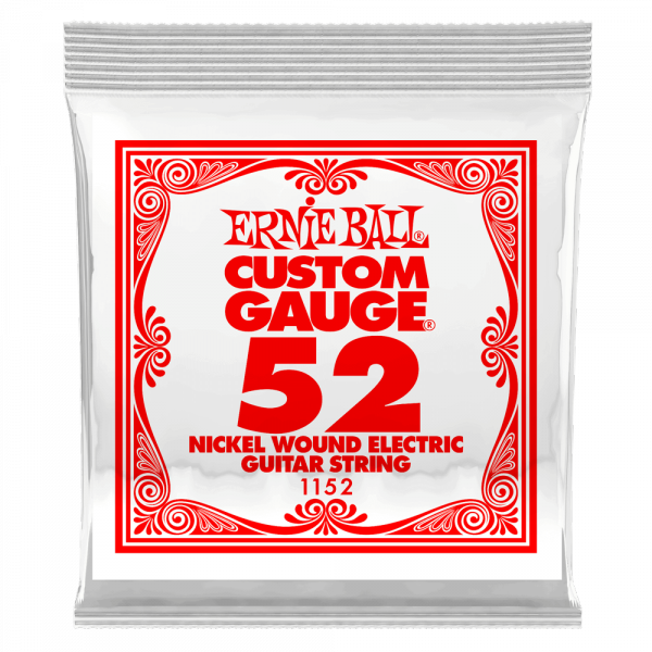 Electric guitar strings Ernie ball Electric (1) 1152 Slinky Nickel Wound 52 - String by unit