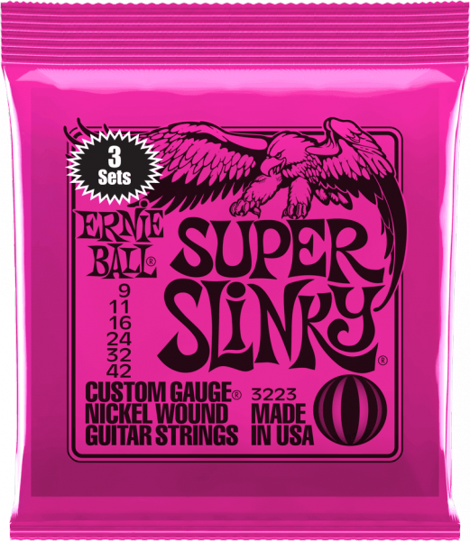 Electric guitar strings Ernie ball Electric (3X SET) 3223 Super Slinky 09-42 - Set of strings