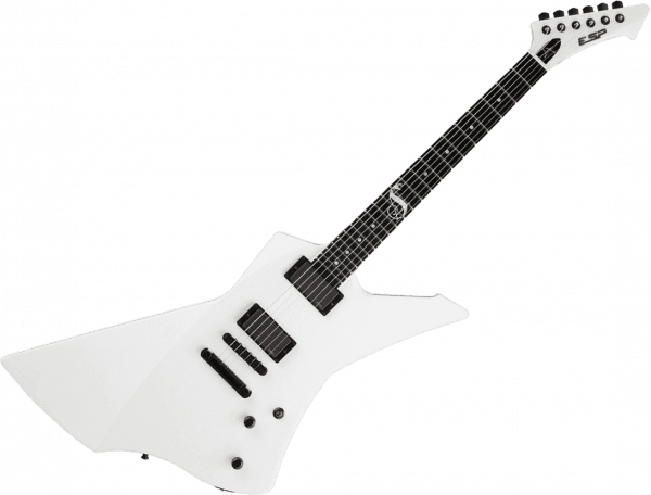 Solid body electric guitar Esp Custom Shop James Hetfield Snakebyte (Japan) - Snow white
