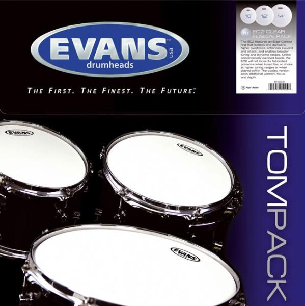 Drumhead set Evans Tom Pack G1 Coated Fusion - TPG1CTDF - Drumsticks set