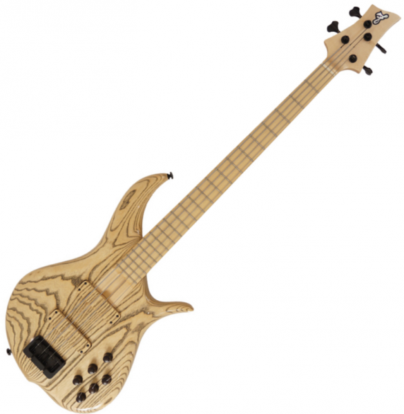 Solid body electric bass F bass BN4 Fretted (MN) - natural