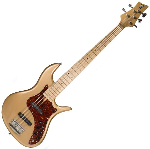 Solid body electric bass F bass VF5 70's Vintage (Ash, MN) - Bronze