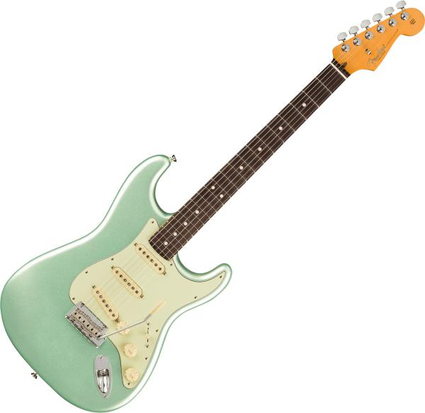 Solid body electric guitar Fender American Professional II Stratocaster (USA, RW) - mystic surf green