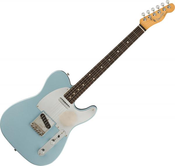 Solid body electric guitar Fender Chrissie Hynde Telecaster (MEX, RW) - Road worn faded ice blue metallic