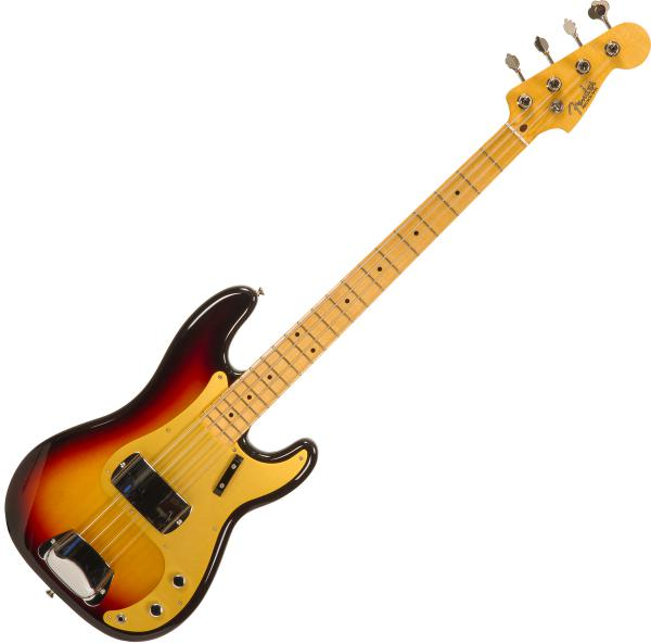 Solid body electric bass Fender Custom Shop 1958 Precision Bass #CZ548626 - nos 3-color sunburst
