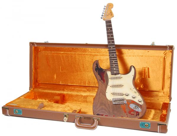 Solid body electric guitar Fender Custom Shop Rory Gallagher Stratocaster - relic 3-color sunburst