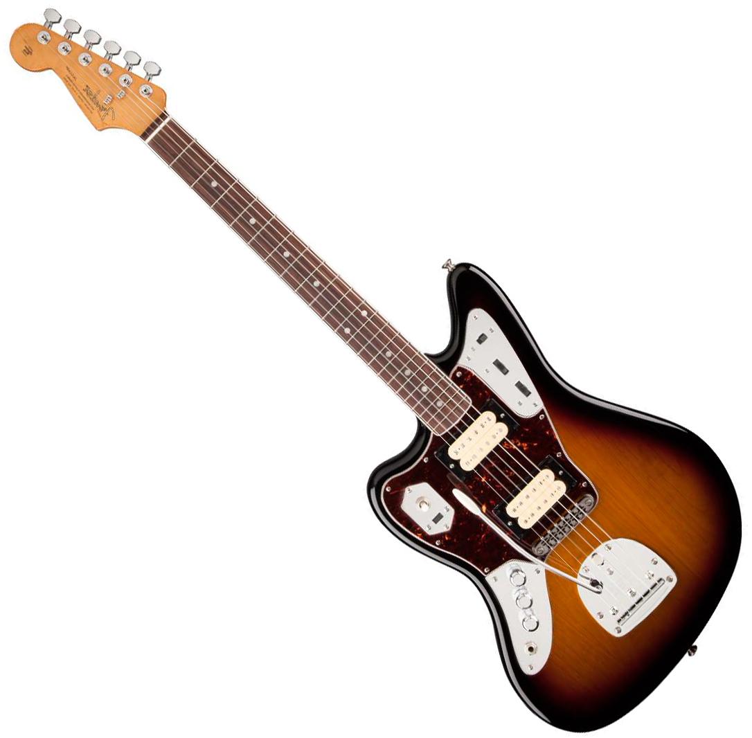 Fender Jaguar Kurt Cobain Left Handed 3 Color Sunburst Solid Body