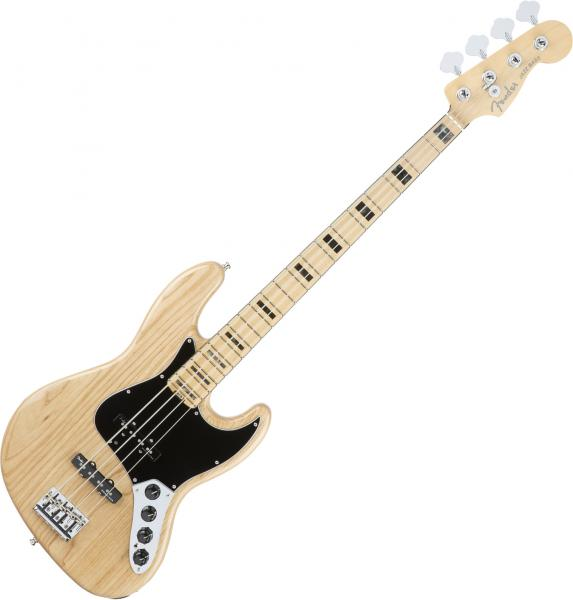 Solid body electric bass Fender American Elite Jazz Bass Ash (USA, MN) - Natural
