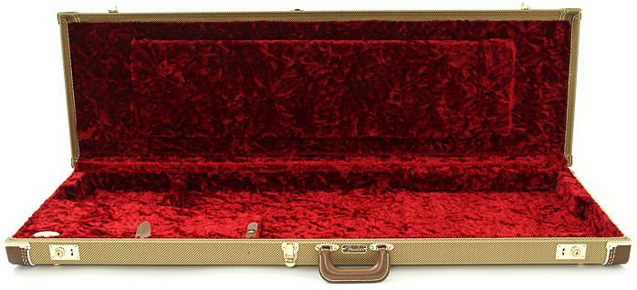 9f7de60e20 ... Electric bass case Fender Jazz Bass Multi-Fit Hardshell Case - Tweed  With Red Interior ...
