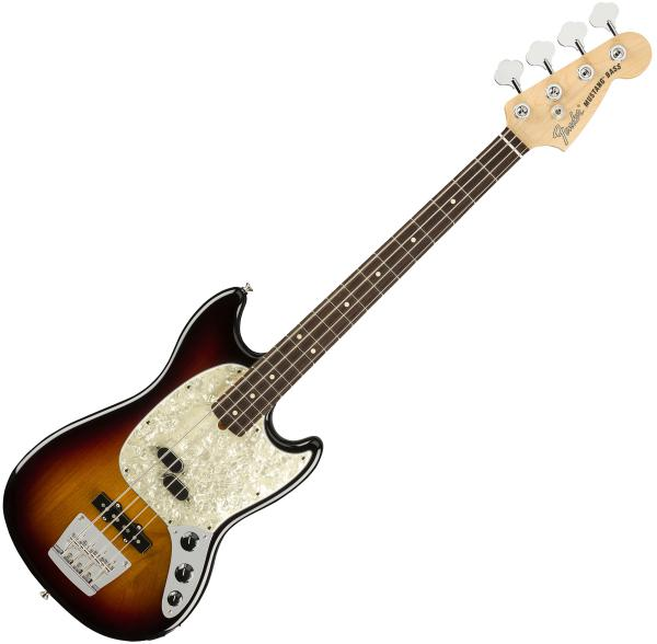 Electric bass for kids Fender American Performer Mustang Bass (USA, RW) - 3-color sunburst